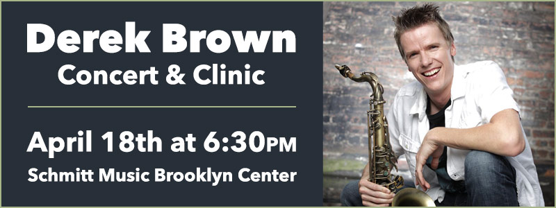 Derek Brown Concert & Clinic at Schmitt Music Brooklyn Center