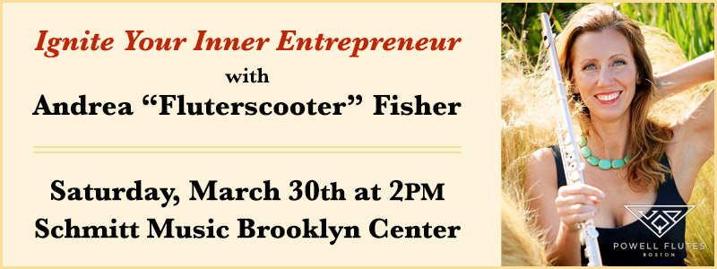 "Ignite Your Inner Entrepreneur with Andrea ""Fluterscooter"" Fisher in Brooklyn Center"