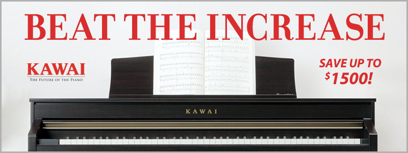 "Kawai Pianos ""Beat the Price Increase"" Financing Offer"