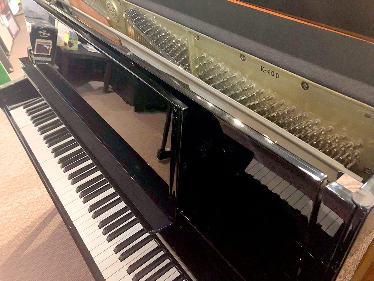 """Used Kawai K-400 48"""" Ebony Polish Upright Piano"""