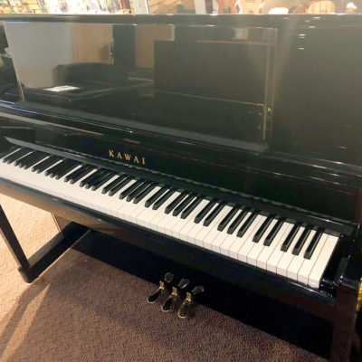 "Used Kawai K-400 48"" Ebony Polish Upright Piano"