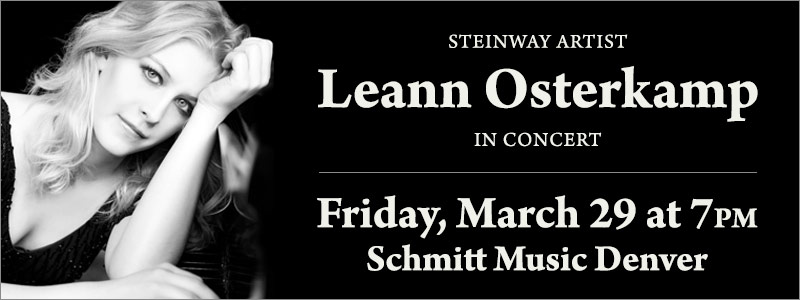Steinway Artist Leann Osterkamp in Concert at Schmitt Music Denver