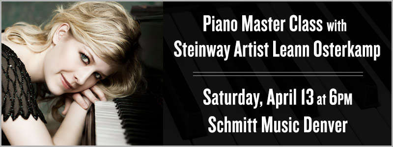 Piano Master Class with Steinway Artist Leann Osterkamp in Denver