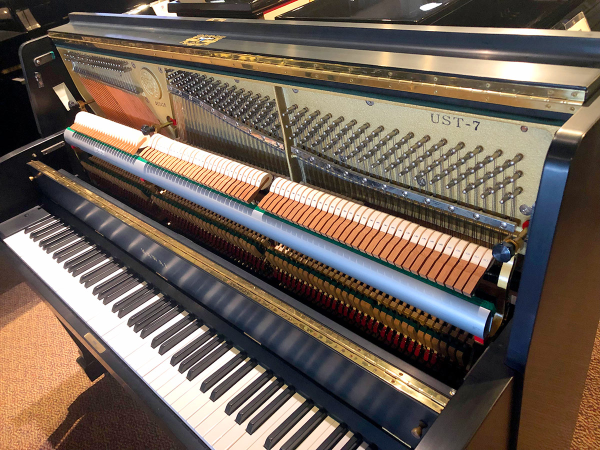 """Used Kawai UST-7 46"""" Ebony Satin Upright Piano"""