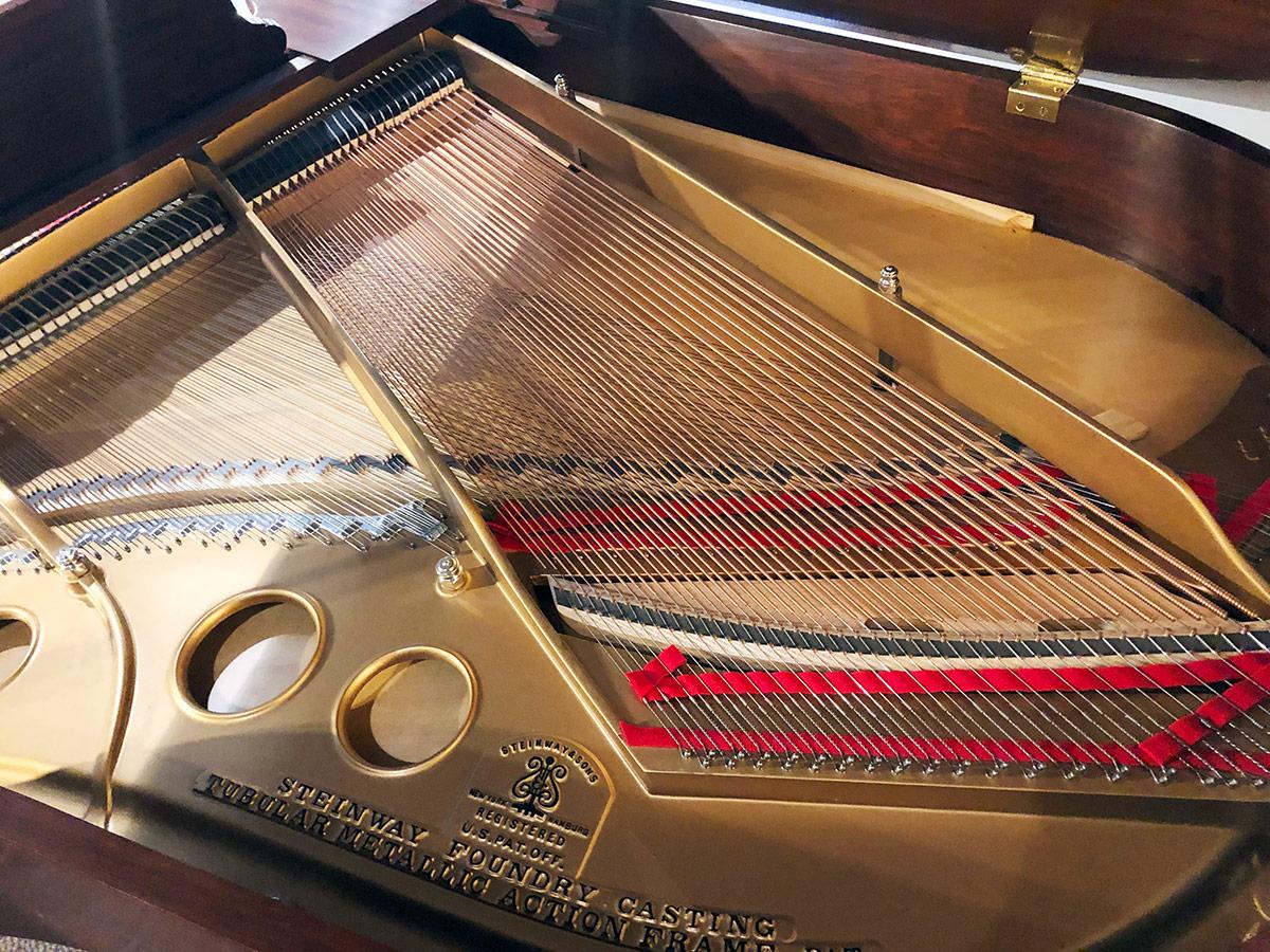 """Used Steinway Model O 5'11"""" Mahogany Satin Grand Piano"""