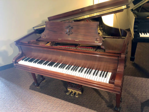 "Used Steinway Model O 5'11"" Mahogany Satin Grand Piano"