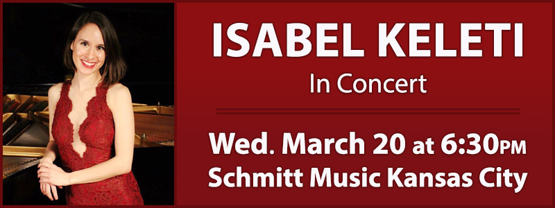 Isabel Keleti in Concert at Schmitt Music Kansas City