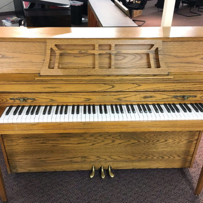 "Used Yamaha M302 43"" Satin Oak Upright Piano"