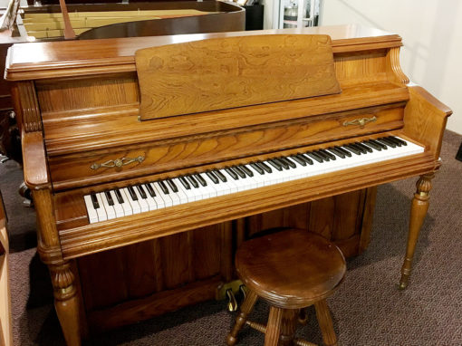 "Used Wurlitzer 43"" Oak Console Piano"