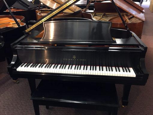"""Used Steinway Model L 5'11"""" Ebony Satin Grand Piano"""