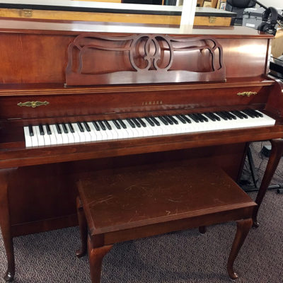 "Used Yamaha M-500 44"" Queen Anne Dark Cherry Upright Piano"
