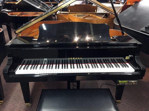 """Used Yamaha DGA1 4'11"""" Ebony Polish Grand Piano"""