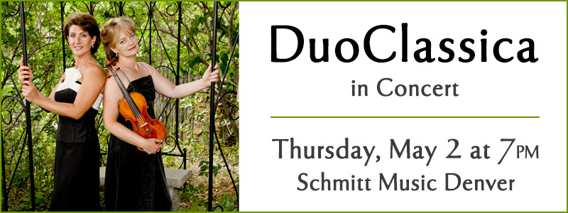 DuoClassica Concert at Schmitt Music Denver