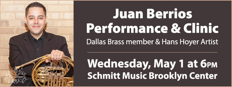 Juan Berrios Performance & Clinic at Schmitt Music Brooklyn Center