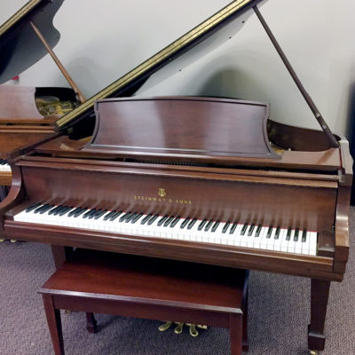 Used Steinway & Sons Model L Brown Mahogany Satin Grand Piano