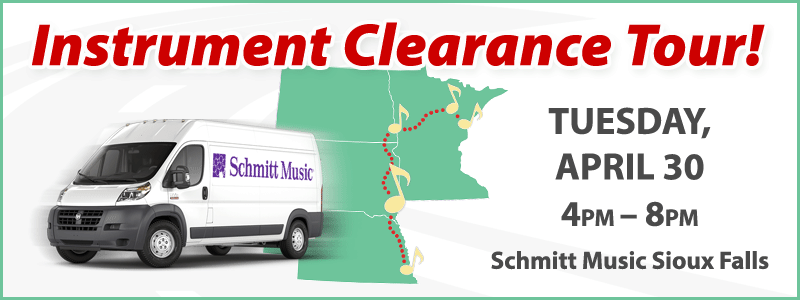 Band & Orchestra Instrument Clearance Tour | Sioux Falls, SD