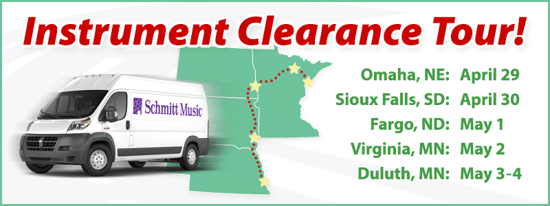 Band & Orchestra Instrument Clearance Tour 2019!