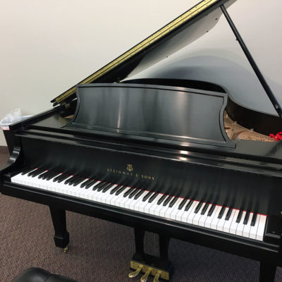 "Used Steinway Model L 5'11"" Ebony Satin Grand Piano"