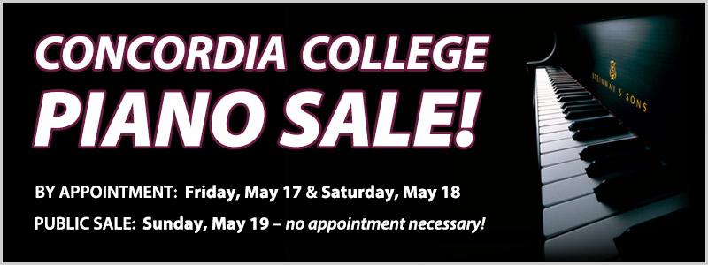 Concordia College Piano Sale | Moorhead, MN