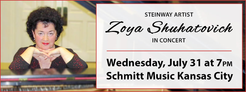 Steinway Artist Zoya Shuhatovich in Concert at Schmitt Kansas City