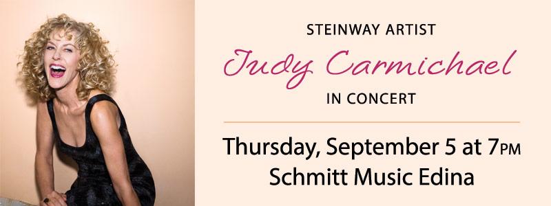 Steinway Artist Judy Carmichael in Concert at Schmitt Music Edina