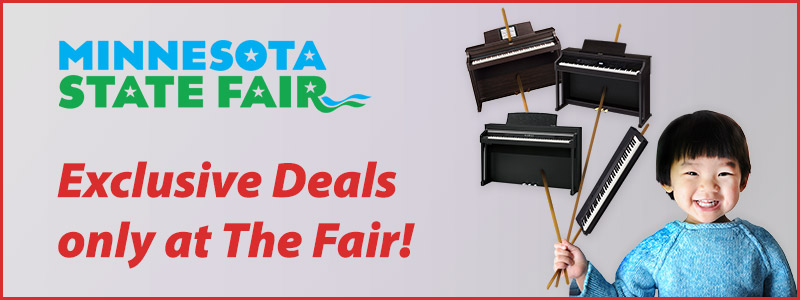 Minnesota State Fair Piano Savings – Digitals, Hybrids and Player Pianos!