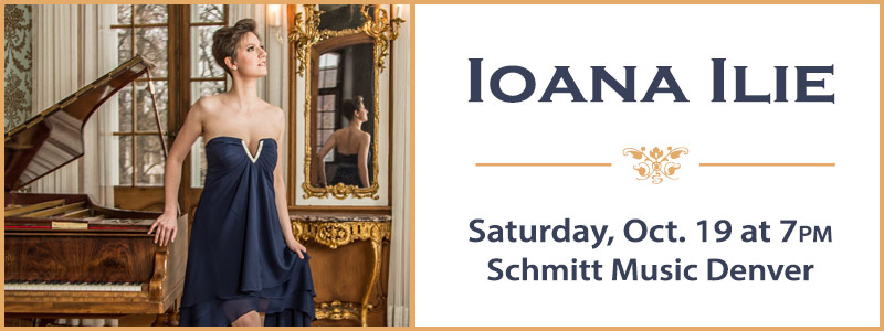 Pianist Ioana Ilie in Recital at Schmitt Music Denver