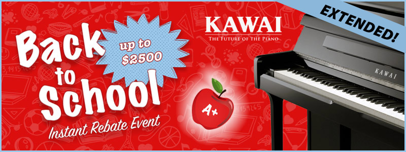 Kawai Instant Rebates up to $2,500 Extended!