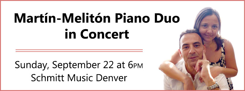 Martín-Melitón Piano Duo in Concert at Schmitt Music Denver