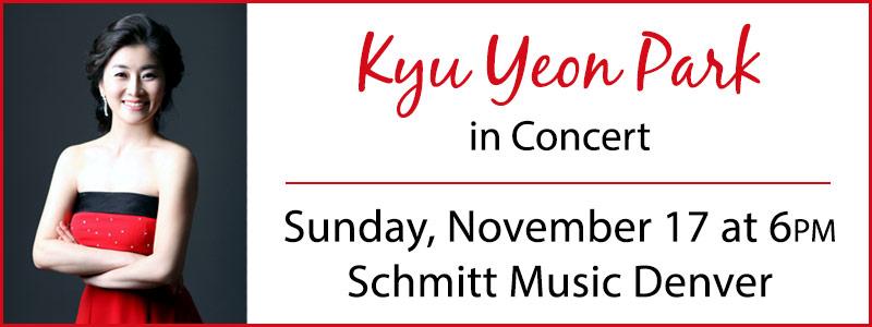Pianist Kyu Yeon Park in Concert at Schmitt Music Denver