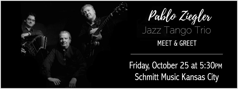Pablo  Ziegler Jazz Tango Trio Meet & Greet at Schmitt Music Kansas City