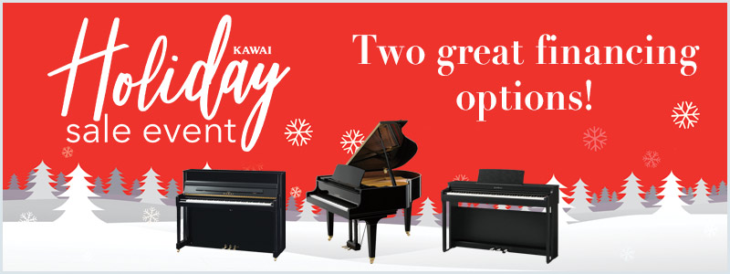 Kawai Holiday Piano Financing: Two Great Offers through December!