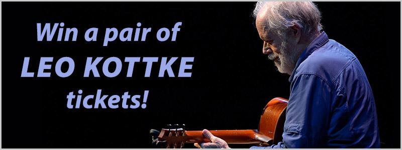 Leo Kottke Fargo Concert Ticket Giveaway!
