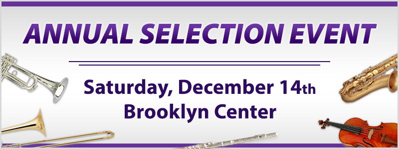 Annual Band & Orchestra Instrument Selection Event in Brooklyn Center