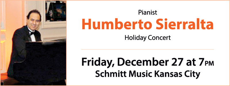 CANCELED: Holiday Concert with Humberto Sierralta at Schmitt Music Kansas City