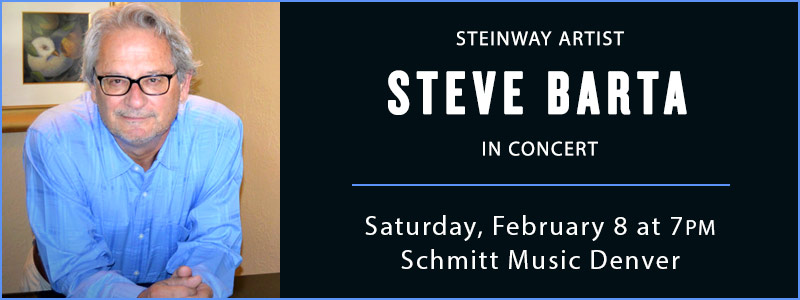 Steinway Artist Steve Barta in Concert at Schmitt Music Denver