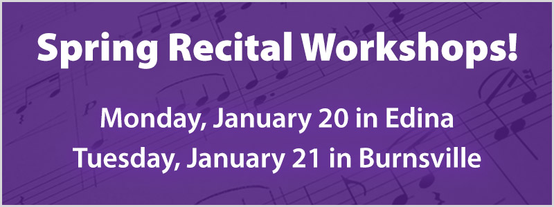 Spring Piano Recital Workshops in the Twin Cities!