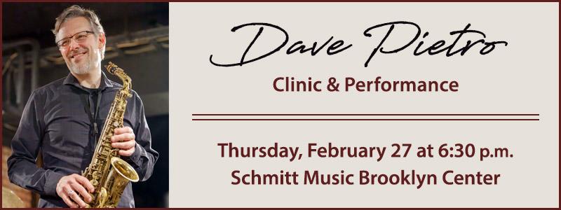 Dave Pietro Performance & Clinic: UMN-Schmitt Music Saxophone Series