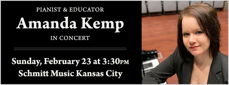 Benefit Concert featuring Pianist Amanda Kemp in Kansas City