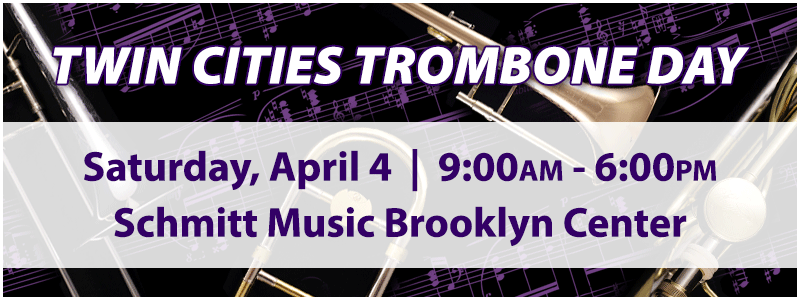 Canceled: 3rd Annual Twin Cities Trombone Day at Schmitt Music Brooklyn Center