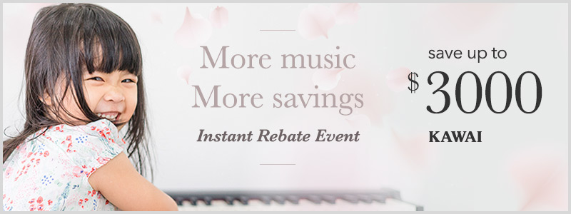 Kawai Instant Rebates up to $3000 through April 12th!