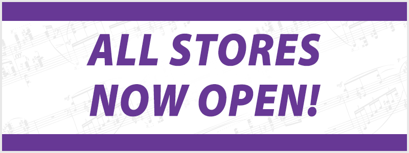 Welcome Back to Your Schmitt Music store – we're NOW OPEN!