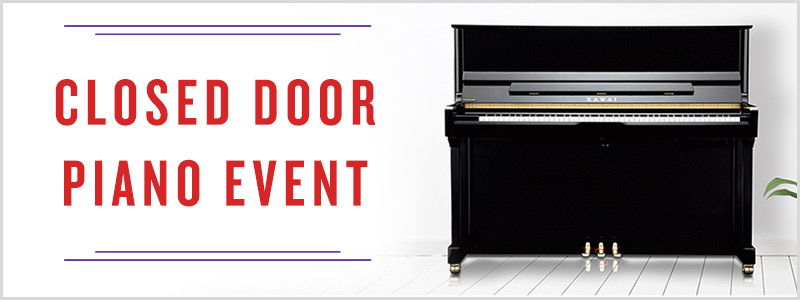 Closed Door Private Piano Selection Appointments