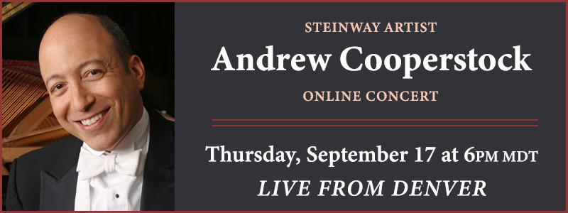 Steinway Artist Andrew Cooperstock LIVE from Schmitt Music Denver