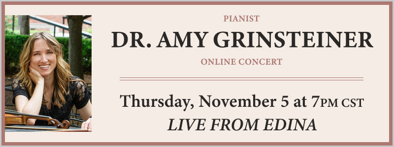 Pianist Dr. Amy Grinsteiner LIVE from Schmitt Music Edina