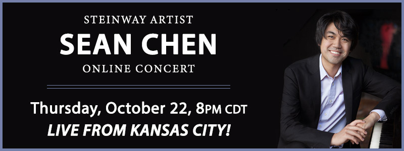 Steinway Artist Sean Chen LIVE from Schmitt Music Kansas City