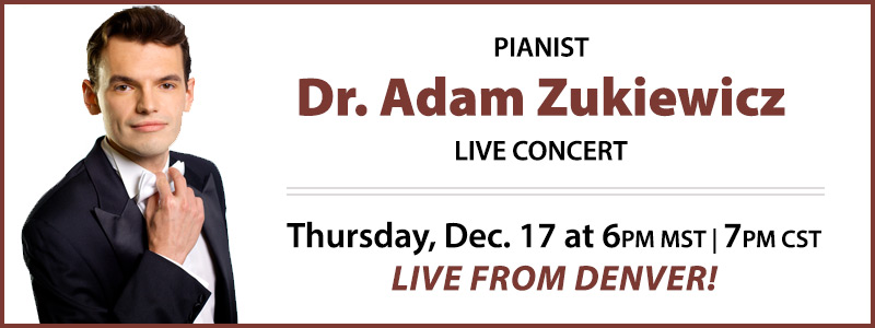 Pianist Dr. Adam Piotr Żukiewicz LIVE from Schmitt Music Denver