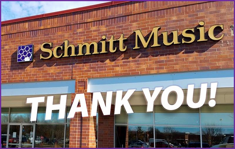 Schmitt Music: Thank You!