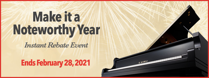 Kawai Instant Rebates up to $3000 through February!