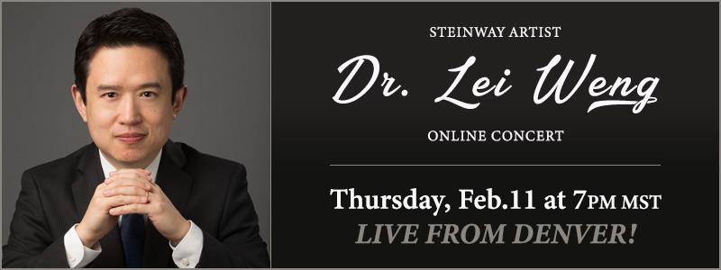 Steinway Artist Dr. Lei Weng LIVE from Schmitt Music Denver